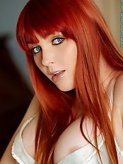 Marie McCray in Virgin Fox Redhead with Blue Eyes n Nice Tits